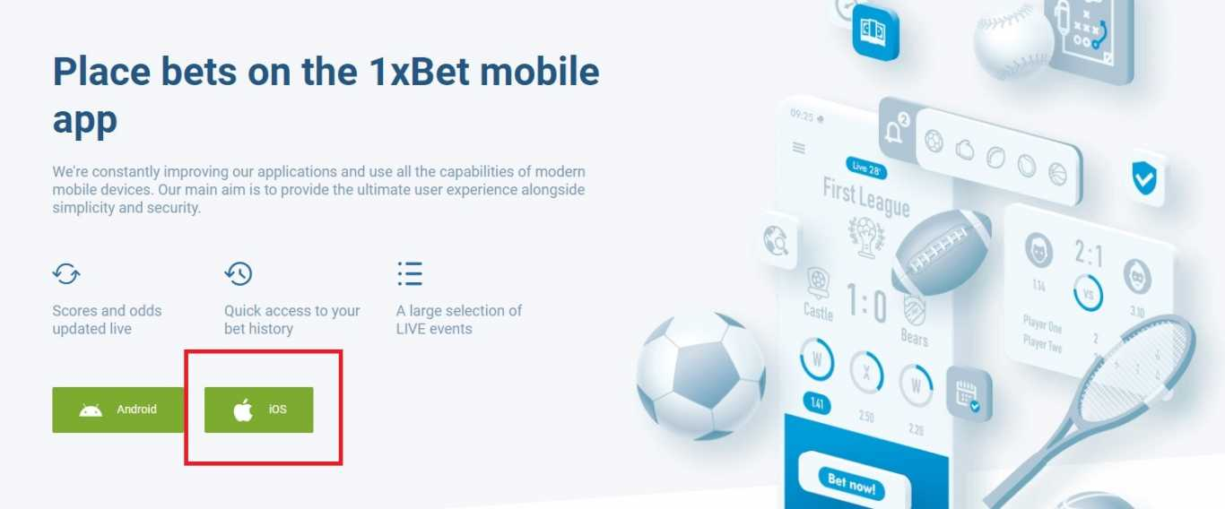1xBet App Free Download ios